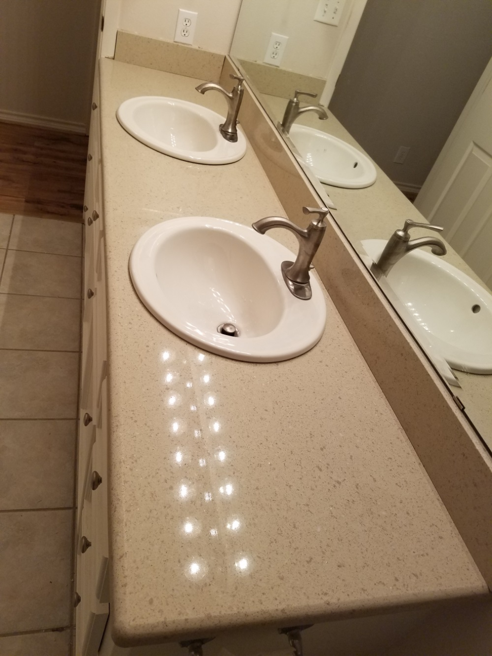Two bathroom countertop replacement in magnolia texas for Replace bathroom countertop