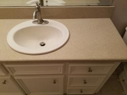 Two Bathroom Countertop Replacement in Magnolia, Texas